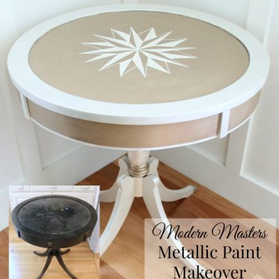 Modern Masters Metallic Paint Makeover {Review}