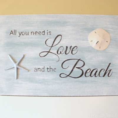 All You Need Is Love & the Beach (Thrifty Sign Tutorial)