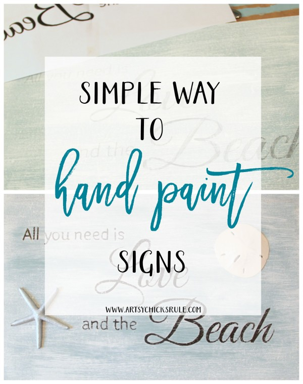 SIMPLE way to hand paint signs! I need this!