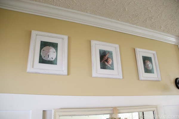 Simple & Thrifty DIY Coastal Wall Art - Super Easy! -artsychicksrule.com #thrifty #coastal #wallart #diy #art