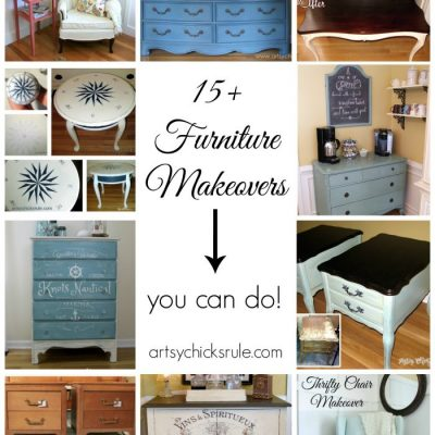 15+ Furniture Makeovers (you can do!)