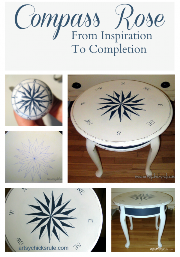 Compass-Rose-Table-Collage-Artsy-Chicks-Rule