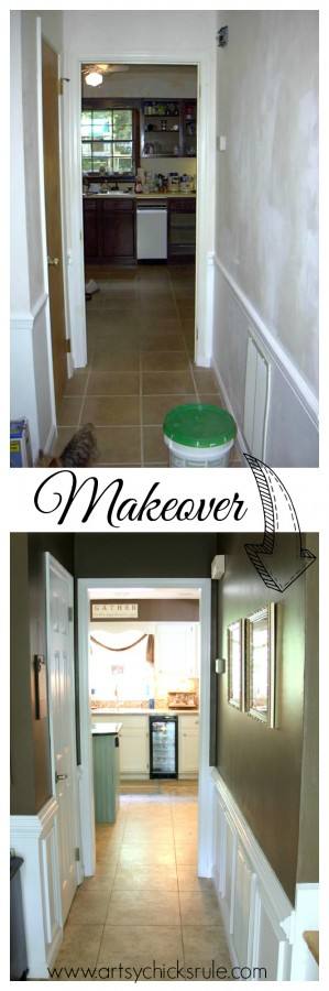 Foyer - Makeover - Sherwin Williams - Kaffee - SW6104 - artsychicksrule.com