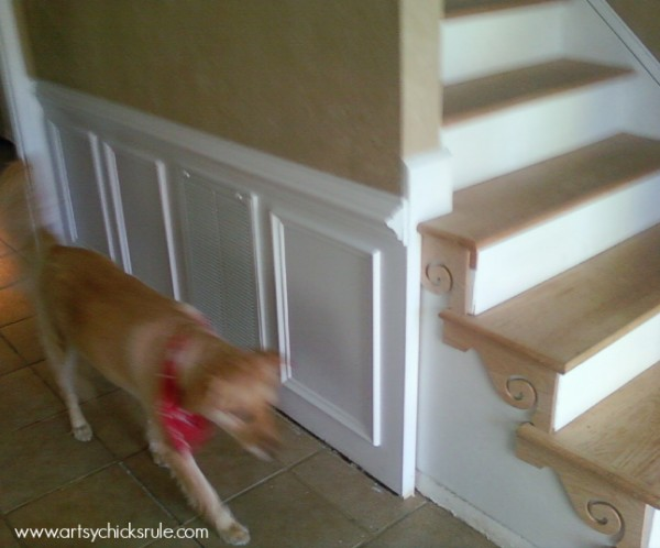 Foyer Makeover - Stair flair -