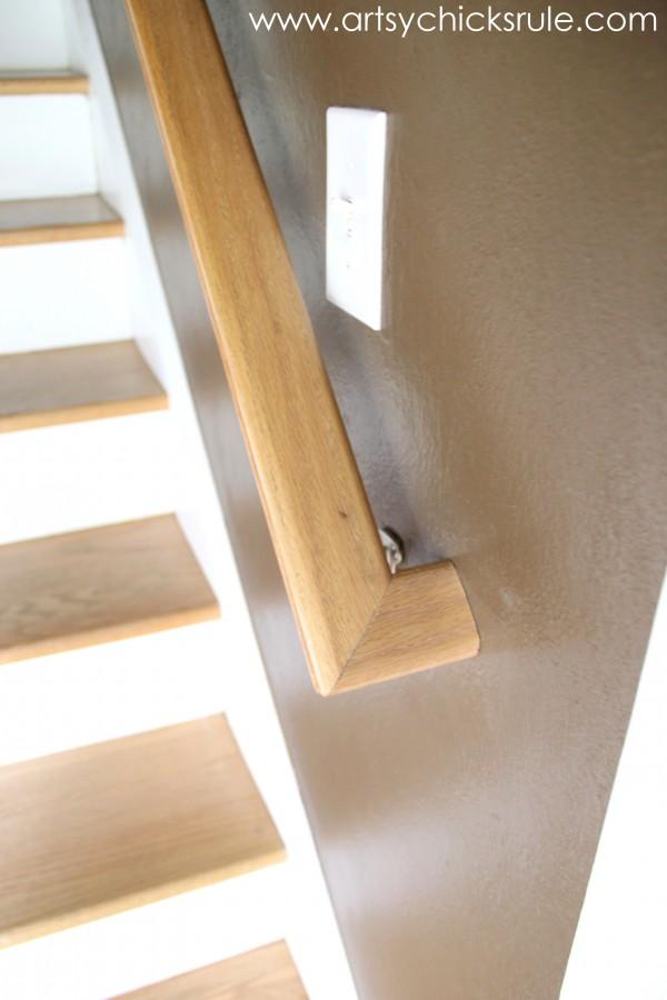 Foyer - Stairs NEW Handrail -  artsychicksrule.com
