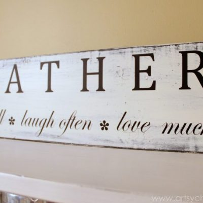 """Gather"" Kitchen Sign (Silhouette Cameo Review)"