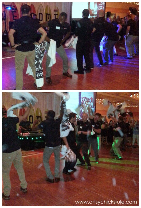 Haven Blogger's Conference 2014 - Ryobi boys can dance - artsychicksrule.com