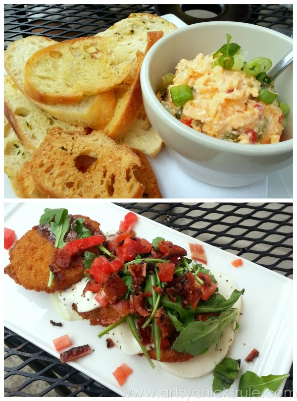 Asheville Eats - Pimento Cheese and Fried Green Tomatoes - artsychicksrule