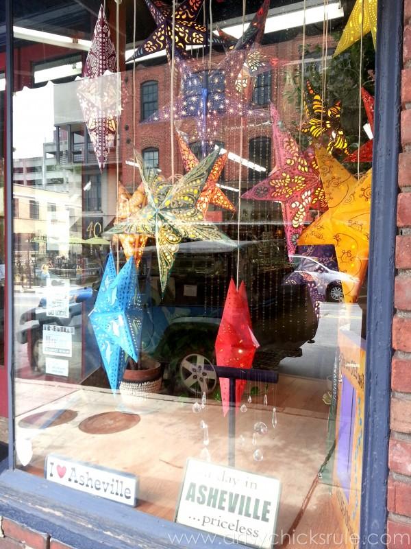 Asheville NC Road Trip - Stars - artsychicksrule.com #asheville #downtown