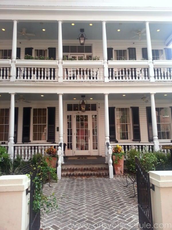 Charleston - Mount Pleasant - a trip in photos - Husk entrance - artsychicksrule.com #southcarolina #charleston