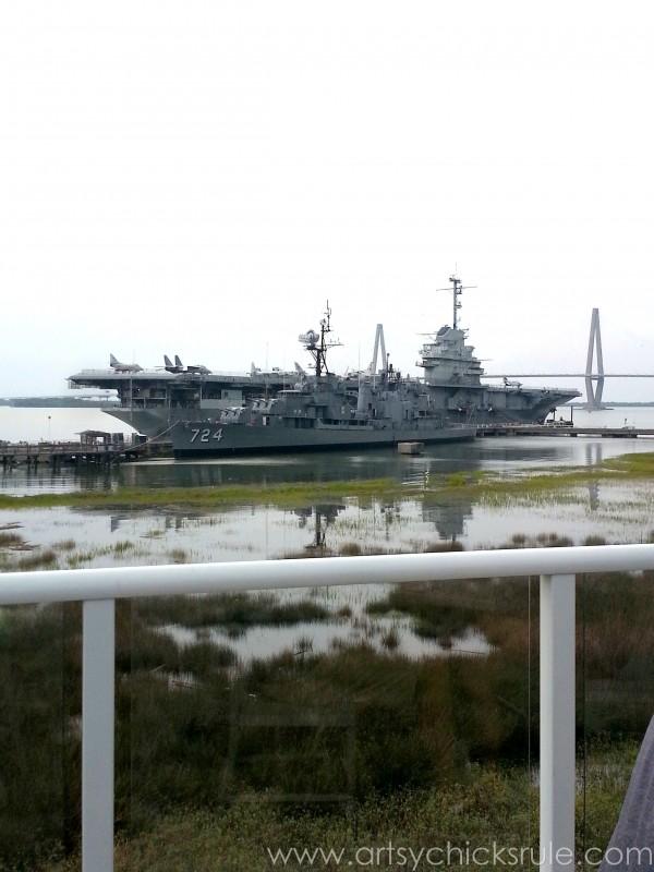 Charleston - Mount Pleasant - a trip in photos - Ship Destroyer - artsychicksrule.com #southcarolina #charleston