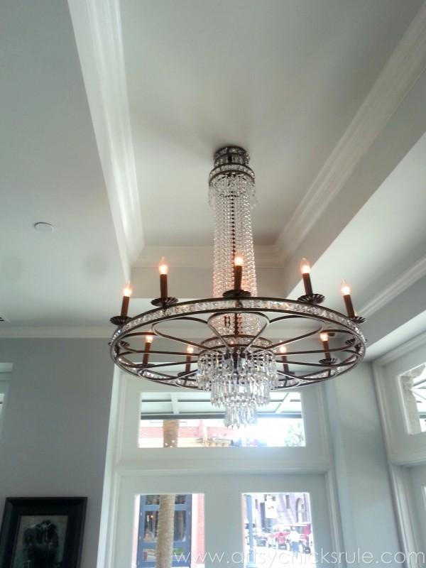 Charleston - Mount Pleasant - a trip in photos - The Drawing Room chandelier- artsychicksrule.com #southcarolina #charleston