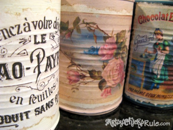 DIY-Decorative-Can-Craft- tin can to vintage vase -artsychicksrule.com