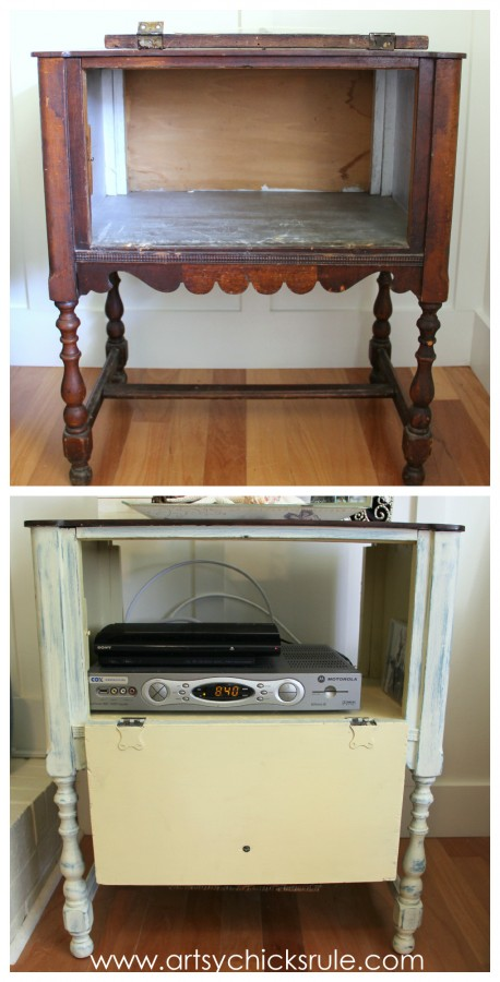 French Fabulous Cabinet Makeover - Inside #chalkpaint -artsychicksrule.com