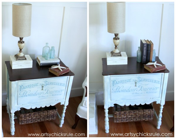 French Fabulous Cabinet Makeover -Styled -#chalkpaint -artsychicksrule.com