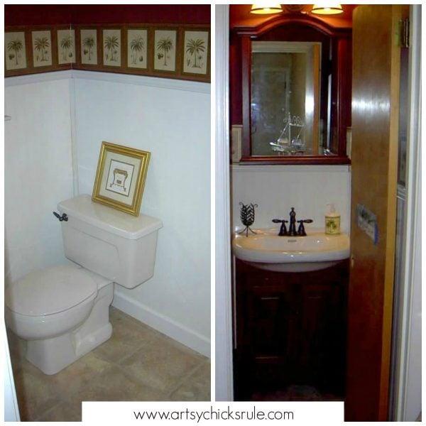 Bath Cabinet Makeover -first makeover- artsychicksrule.com