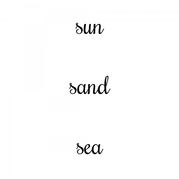 Sun, Sand, Sea Board Sign Printable
