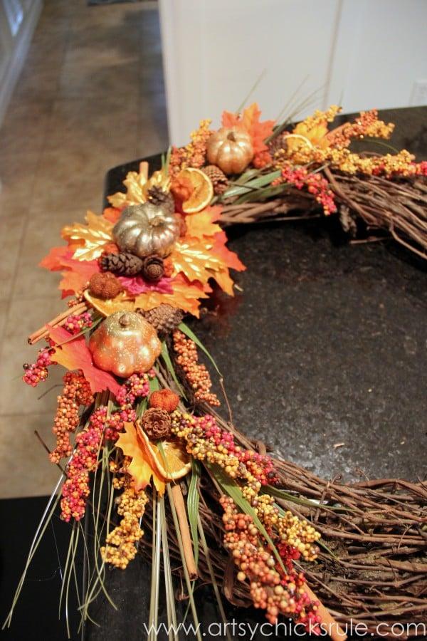 Diy Fall Wreath Fall Themed Tour Artsy Chicks Rule