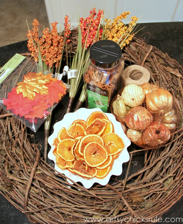 DIY Fall Wreath - Fall Themed Tour - Supplies - #fall #falldecor #diy artsychicksrule (1)