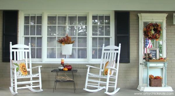 Fall Porch Decor - artsychicksrule.com #falldecor