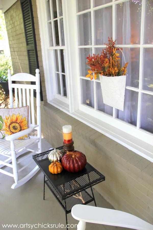 Fall Porch Decor - for Fall- artsychicksrule.com