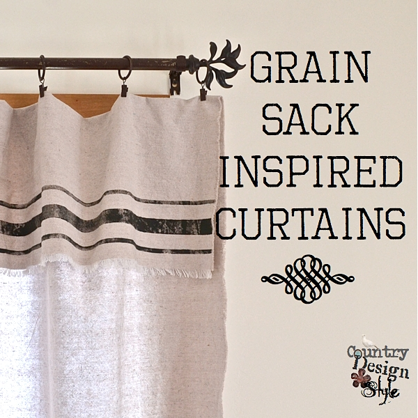 Grain-Sack-Inspired-Curtains- Country Design Style