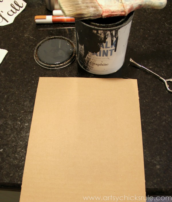 Happy Fall Yall - Chalkboard Art Tutorial - Cardboard -artsychicksrule.com #chalkboard #art #sign #falldecor (2)