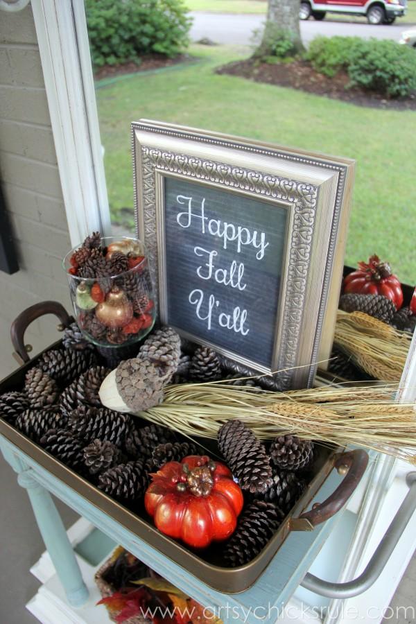 Happy Fall Yall - Chalkboard Art Tutorial - Fall Decor - artsychicksrule.com #chalkboard #art #sign #falldecor (14)