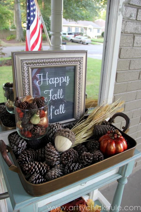 Happy Fall Yall - Chalkboard Art Tutorial - Fall Decor - artsychicksrule.com #chalkboard #art #sign #falldecor (16)