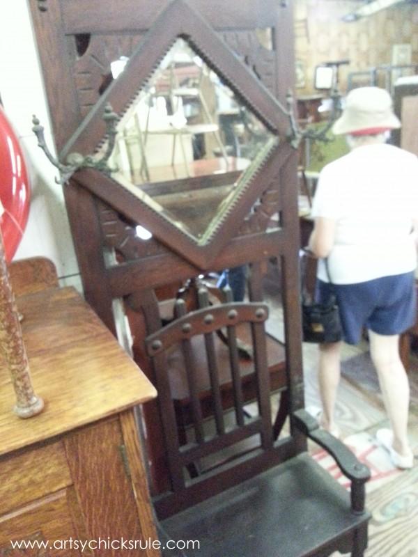Page's Thieves Market - antique hall tree - Mt. Pleasant SC - #vintage #antiques artsychicksrule.com