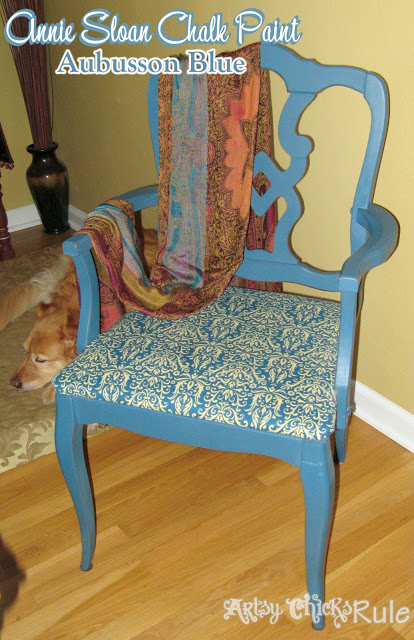 Aubusson Blue Thrift Store Chair