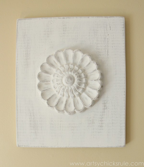 DIY Carved Medallions Inspired By Ballard Designs   Medallion 2    Artsychicksrule.com #knockoff