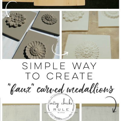 "DIY ""Carved"" Wood Medallions (you can make!)"