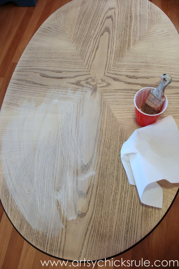 French Typography Whitewash Makeover Words Themed Tour Artsy - Whitewash table top