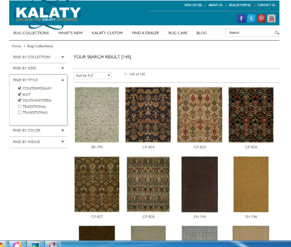 Living Room designed around Kalaty Rugs - Styles available - #ad