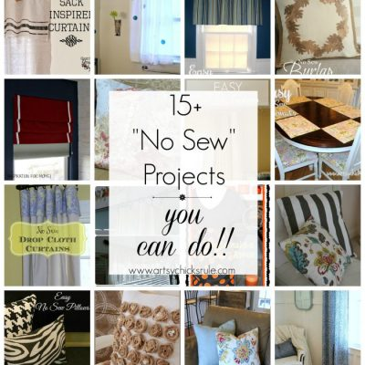 DIY No Sew Projects {Pillows, Curtains, Shades and more}