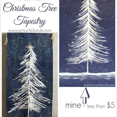 No Sew DIY Christmas Tree Tapestry