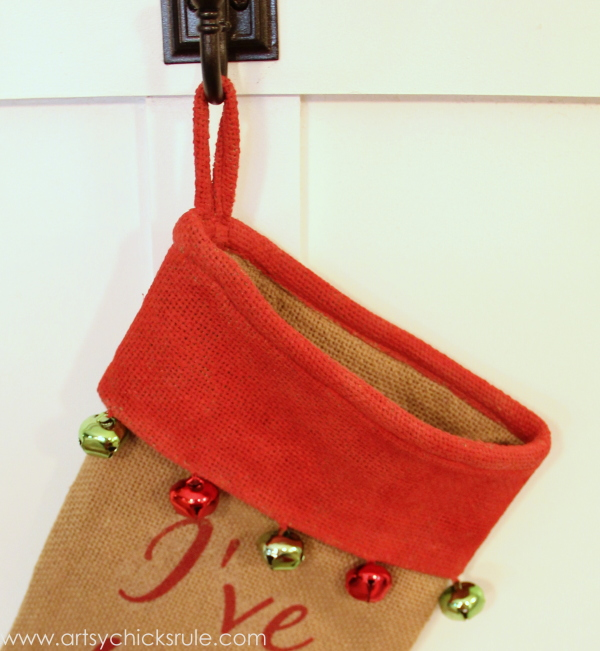 DIY Secret Santa Gift - Naughty Nice Stocking - Top Painted - #diy #holidays #Christmas #transferpaper artsychicksrule.com