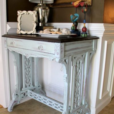 Old Carved Desk Transformed with Chalk Paint (Red Theme Tour)