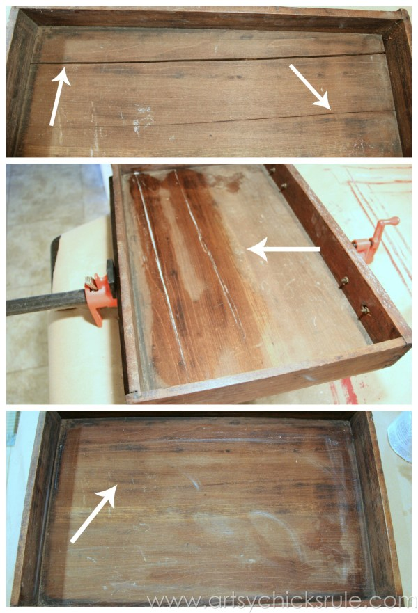 Distressed Old Carved Writing Desk Makeover with Chalk Paint artsychicksrule.com