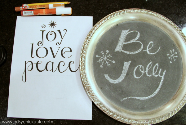 EASY Holiday Chalk Art with Chalk Pens - Before - #chalkart #chalkboard #chalkpen #holidays artsychicksrule.com