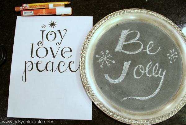 EASY Holiday Chalk Art with Chalk Pens - Before - #chalkart #chalkboard #chalkpen #holidays artsychicksrule.com