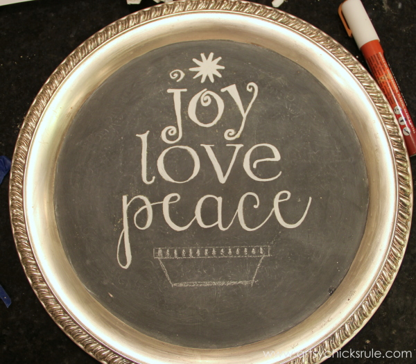 EASY Holiday Chalk Art with Chalk Pens - painted in with a Chalk pen - #chalkart #chalkboard #chalkpen #holidays artsychicksrule.com