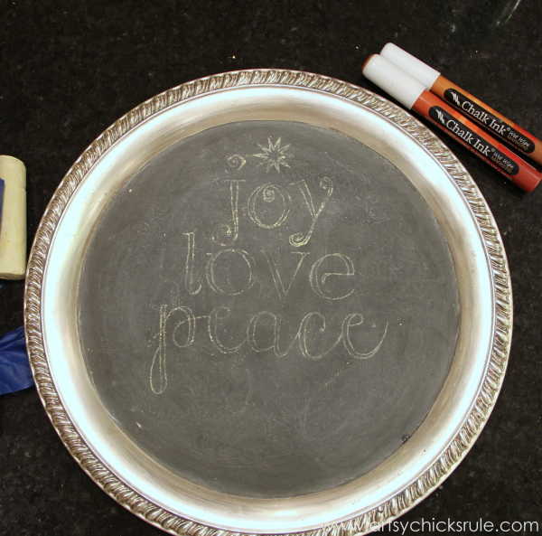 EASY Holiday Chalk Art with Chalk Pens - transferred with chalk - #chalkart #chalkboard #chalkpen #holidays artsychicksrule.com