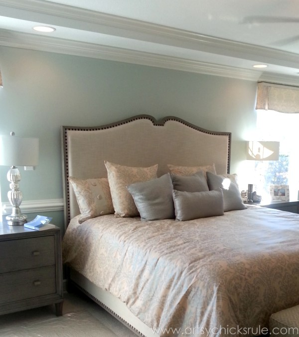 Homearama 2014- Suffolk - Love the headboard- artsychicksrule.com #homeplans #homedecor #decorations #interiordesign