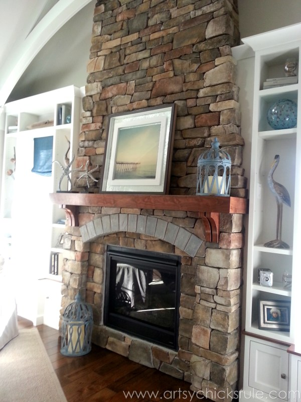 Homearama 2014- Suffolk - Stone Fireplace - artsychicksrule.com #homeplans #homedecor #decorations #interiordesign