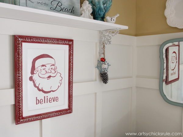Santa - DIY Believe Sign - Side view - #Santa #believe #Christmas #holidaydecor #santaclaus artsychicksrule.com