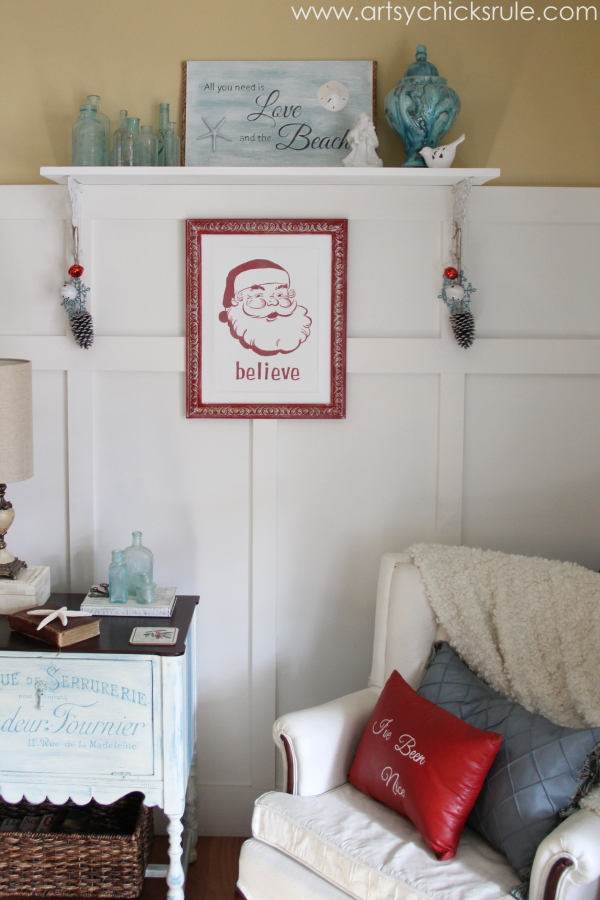 Santa - DIY Believe Sign - Straight view - #Santa #believe #Christmas #holidaydecor #santaclaus artsychicksrule.com
