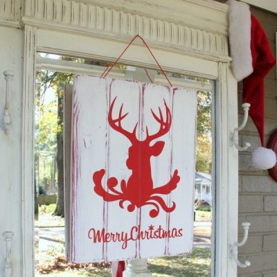 Silhouette Merry Christmas Sign