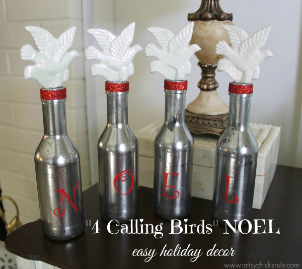 4 Calling Birds NOEL - 12 Days of Christmas Tour - easy holiday decor - #noel #12days #Christmas #holidays #holidaydecor artsychicksrule.com